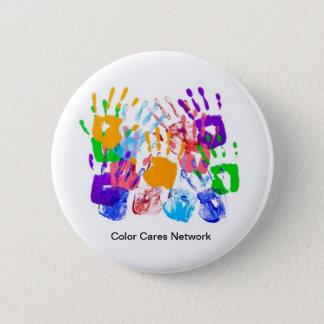 Badges La couleur s'inquiète le bouton de réseau