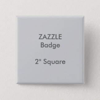 "Badges La coutume de ZAZZLE a imprimé 2"" GRIS carré"