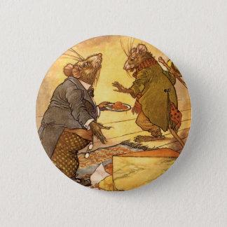 Badges La fable d'Ésope vintage, souris de pays, souris