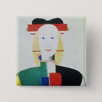 Badges La fille avec le casquette