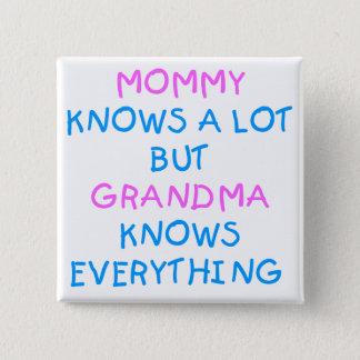 Badges La grand-maman sait tout cadeau du jour de mère de