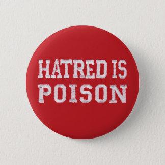 Badges La haine est bouton rouge moyen de piquer-police