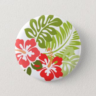 Badges La ketmie rose et rouge de ressort fleurit Hawaï
