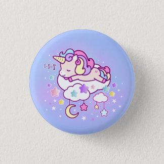 Badges La licorne en pastel de Kawaii avec les nuages