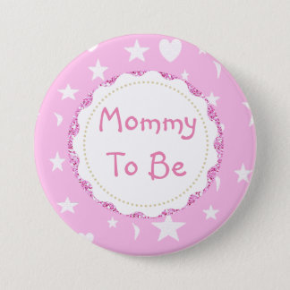 Badges La maman à être des étoiles, des lunes et coeur se
