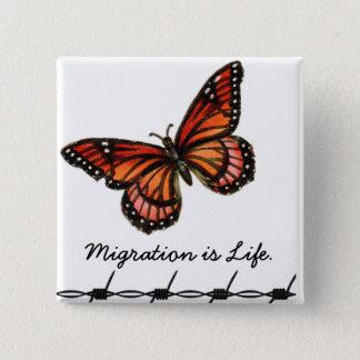 Badges La migration est la vie avec le papillon et le
