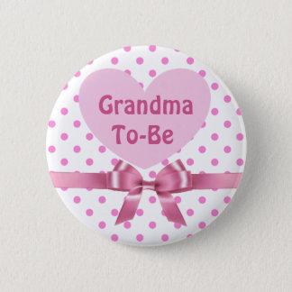 Badges La polka rose a pointillé la grand-maman pour être