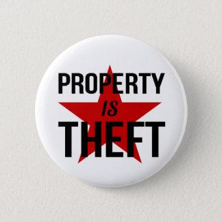 Badges La propriété est vol - communiste socialiste
