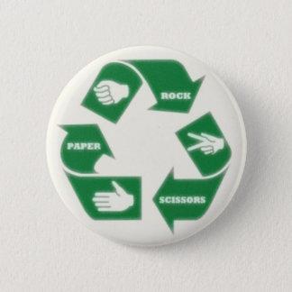 Badges La roche Scissors~ de papier réutilisent ! Bouton