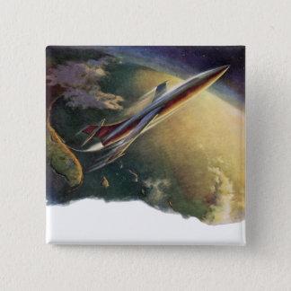 Badges La terre vintage d'avion de vaisseau spatial de la