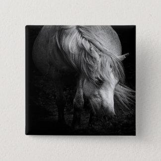 Badges La tête et la crinière de poney de beaux-arts se