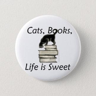 Badges La vie de livres de chats est douce