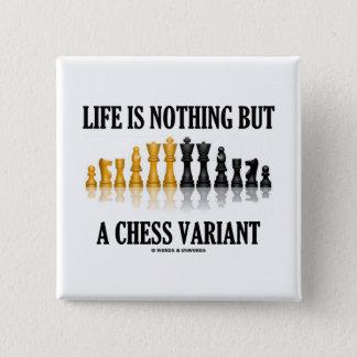 Badges La vie n'est rien mais une variante d'échecs (le