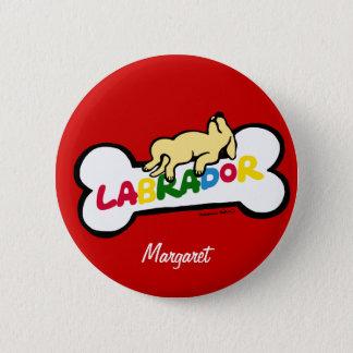 Badges Labrador jaune personnalisé avec un plein ventre