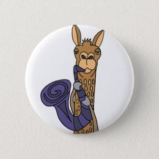 Badges Lama frais drôle jouant l'art d'original de