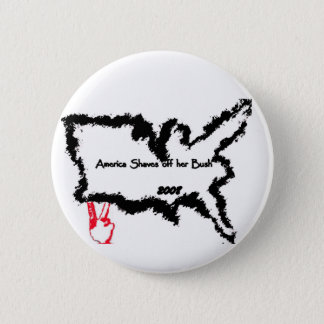 Badges L'Amérique rase outre de son Bush 2008