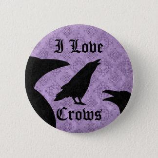Badges L'amour gothique d'I rappelle noir et pourpre