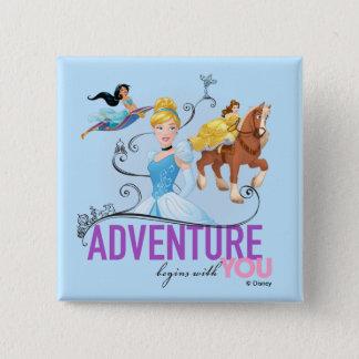Badges L'aventure des princesses | de Disney commence par