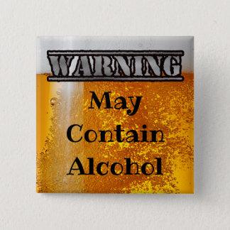 Badges L'avertissement, peut contenir le bouton potable
