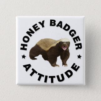 Badges Le blaireau de miel a l'attitude
