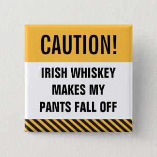 Badges Le bouton de St Patrick drôle de whiskey irlandais