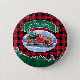 Badges Le camion vintage de Noël ajoutent le nom