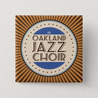 Badges Le choeur de jazz d'Oakland ajustent le bouton
