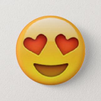 Badges Le coeur observe le bouton d'Emoji
