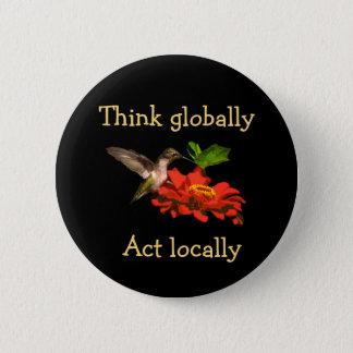 Badges Le colibri pensent dessus que globalement l'acte
