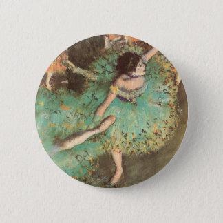 Badges Le danseur vert par Edgar Degas, ballet vintage