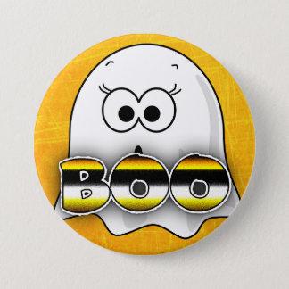 Badges Le fantôme orange HUENT le bouton de Halloween