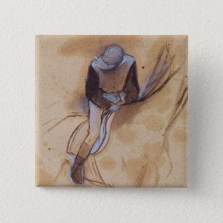 Badges Le jockey d'Edgar Degas | a fléchi la position en