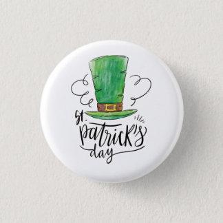 Badges Le jour de St Patrick. Chapeau de lutin