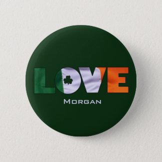 Badges Le jour de St Patrick irlandais de drapeau d'amour