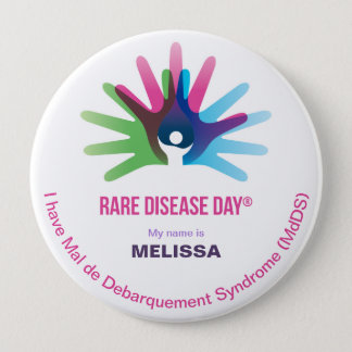 Badges Le jour rare de la maladie, personnalisent tous,