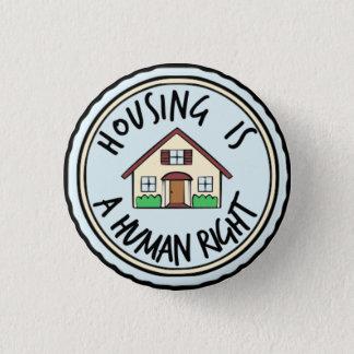 Badges Le logement est un bouton de droit de l'homme