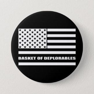 Badges Le panier du drapeau américain de Deplorables