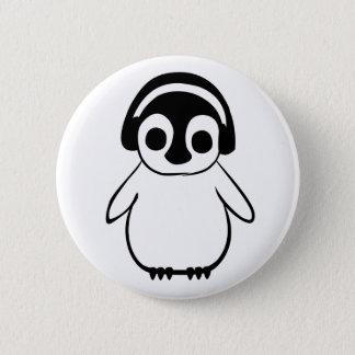 Badges Le pingouin écoute l'insigne de musique