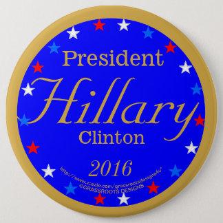 Badges Le Président Hillary Clinton 2016 idées lumineuses