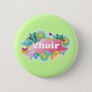 Badges Le rétro choeur coloré conçoivent le cadeau