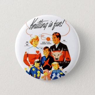Badges Le rétro tricot vintage des femmes 60s est
