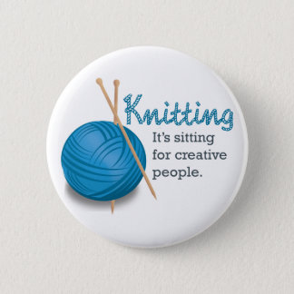 Badges Le tricotage… de lui se repose pour les personnes