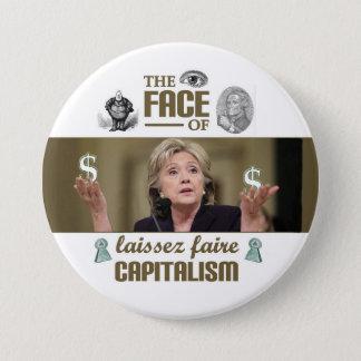 Badges Le visage du capitalisme de faire de laissez