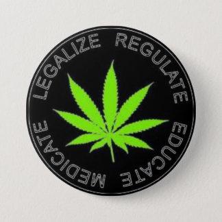 Badges Légalisez le bouton de mauvaise herbe