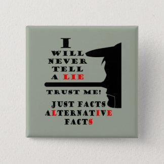 Badges Les faits alternatifs de long nez ne se trouvent