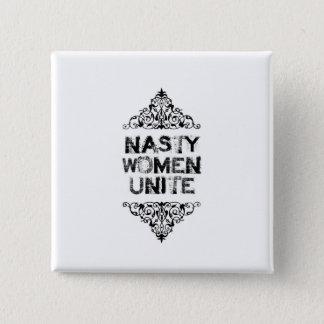 Badges Les femmes méchantes unissent le bouton
