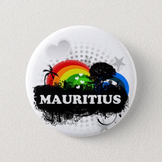 Badges Les Îles Maurice fruitées mignonnes
