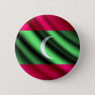 Badges Les Maldives ondulant le bouton de pinback de