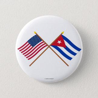 Badges Les USA et drapeaux croisés par Cuba