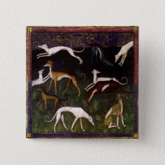 Badges Lévriers médiévaux dans les bois profonds